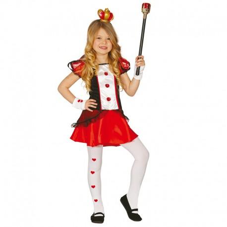 Disfraz de Reina de Corazones de niña