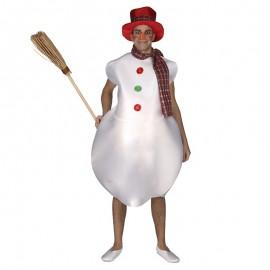 Disfraz de Muñeco de Nieve para adulto