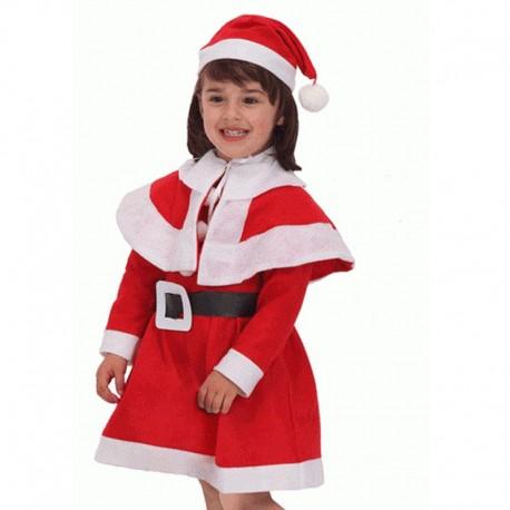 Disfraz de Mama Noel de niña