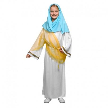 Disfraz de Virgen María de niña