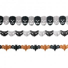 Blister de 3 modelos de  Guirnaldas Halloween