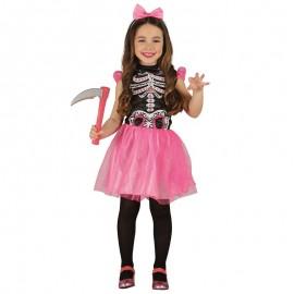 Disfraz de Esqueleto Tutú Rosa de niña