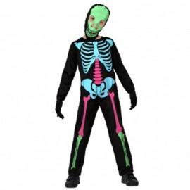 Disfraz de Esqueleto Colorido para niño
