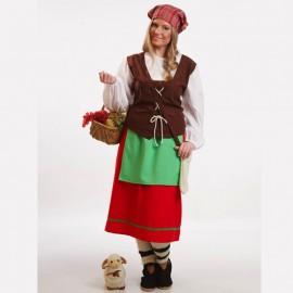 Disfraz de pastora de mujer