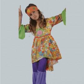 Disfraz de Chica Hippie para niña