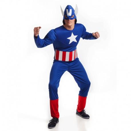 Disfraz de super heroe americano para hombre