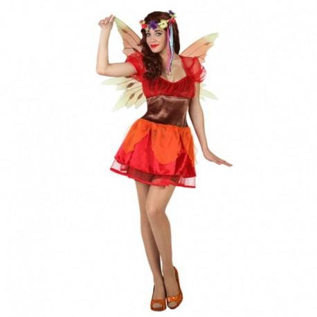 Disfraz de hada de otoño para mujer
