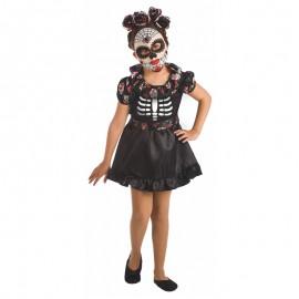 Disfraz de Catrina, para niña