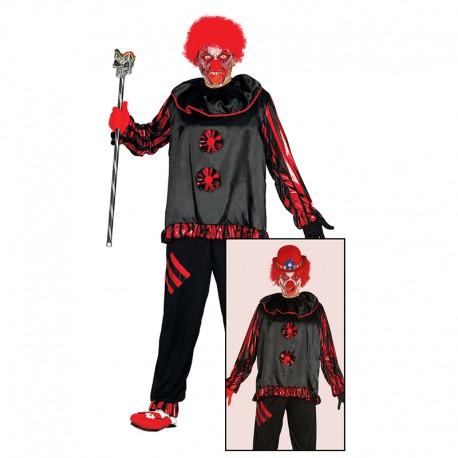 Disfraz de Payaso Loco, para adultos