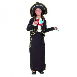 Disfraz de  Mejicana Mariachi para niña