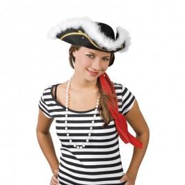 Sombrero Pirata 3 Picos para adultos