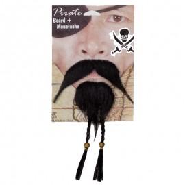Barba y Bigote de Pirata para adultos