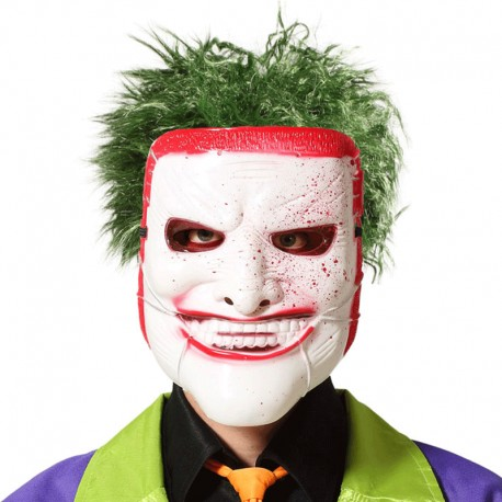 Máscara de Payaso Joker de plástico