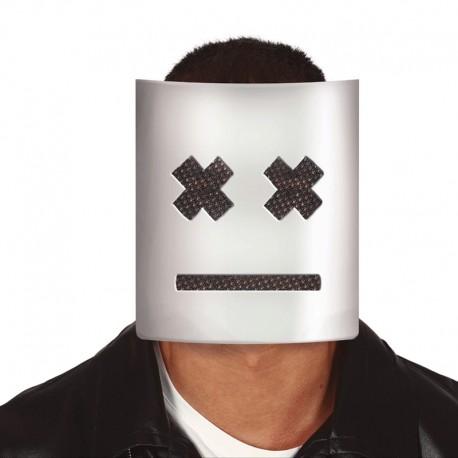 Máscara blanca con cruces de plástico