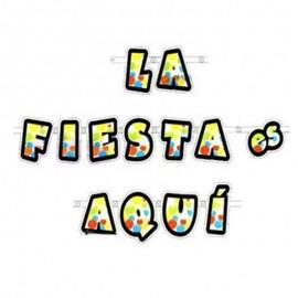 """Guirnalda de """"La Fiesta es Aquí"""" para decorar"""