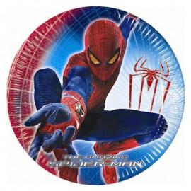 Cumpleaños Platos de Spiderman pequeños