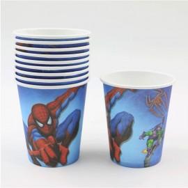 Vasos de Spiderman para cumpleaños