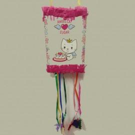 Piñata Angel Cat infantil para cumpleaños