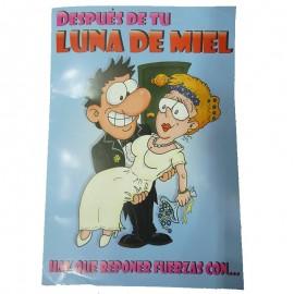 Tarjeta de Luna de Miel para novios