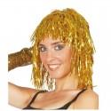 Peluca de pelo brillante para mujer