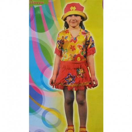 Disfraz de Hippie de niña