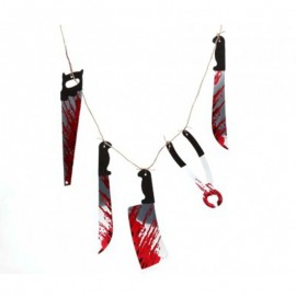 Guirnalda de cuchillos ensangrentados de decoración