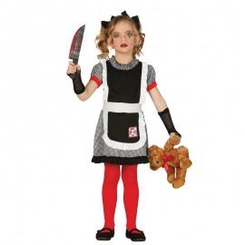 Disfraz de Muñeca Gótica de niña