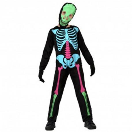 Disfraz de Esqueleto Colorido de niño
