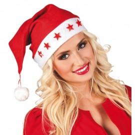 Gorro de Papa Noel con luces para adulto