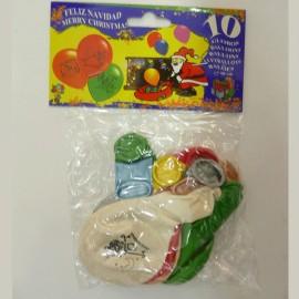 Bolsa de 10 Globos de Navidad