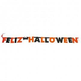 """Guirnalda """" Feliz Halloween"""" de decoración"""