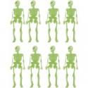 Esqueletos Fluorescentes para decoración de plástico