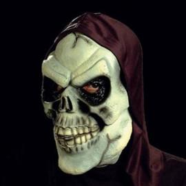 Mascara calavera encapuchada