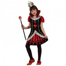 Disfraz de Dama de Corazones de niña