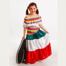 Disfraz de Mejicana de niña