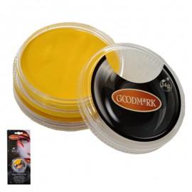 Maquillaje al agua en crema de color amarillo