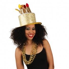 Sombrero de Feliz Cumpleaños Dorado