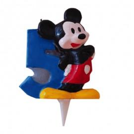 Vela para cumpleaños de Mickey Nº5