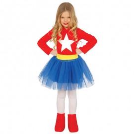 Disfraz de Super Chica para niña