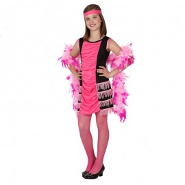 Disfraz  de Charleston Rosa para niña