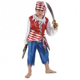 Disfraz de Bucanero Naufrago para niño