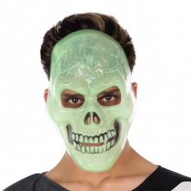Máscara de Calavera fluorescente para adulto