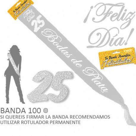 """Banda """"25 Bodas de Plata"""" para celebraciones"""