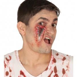 Cicatriz Cremallera Ojo de Latex complemento