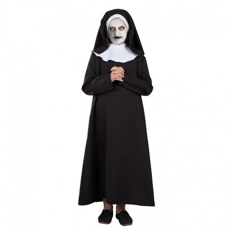 Disfraz de Monja Zombie para niña