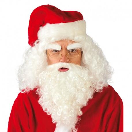 Peluca Papa Noel de adulto