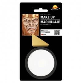 Maquillaje de color blanco con esponja