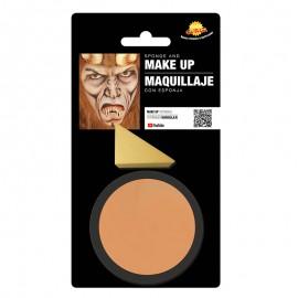 Maquillaje de color carne con esponja