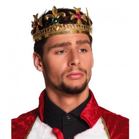 Corona de Rey metalizada para adulto