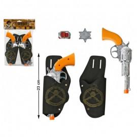 Set de dos pistolas con cartucheras de adulto